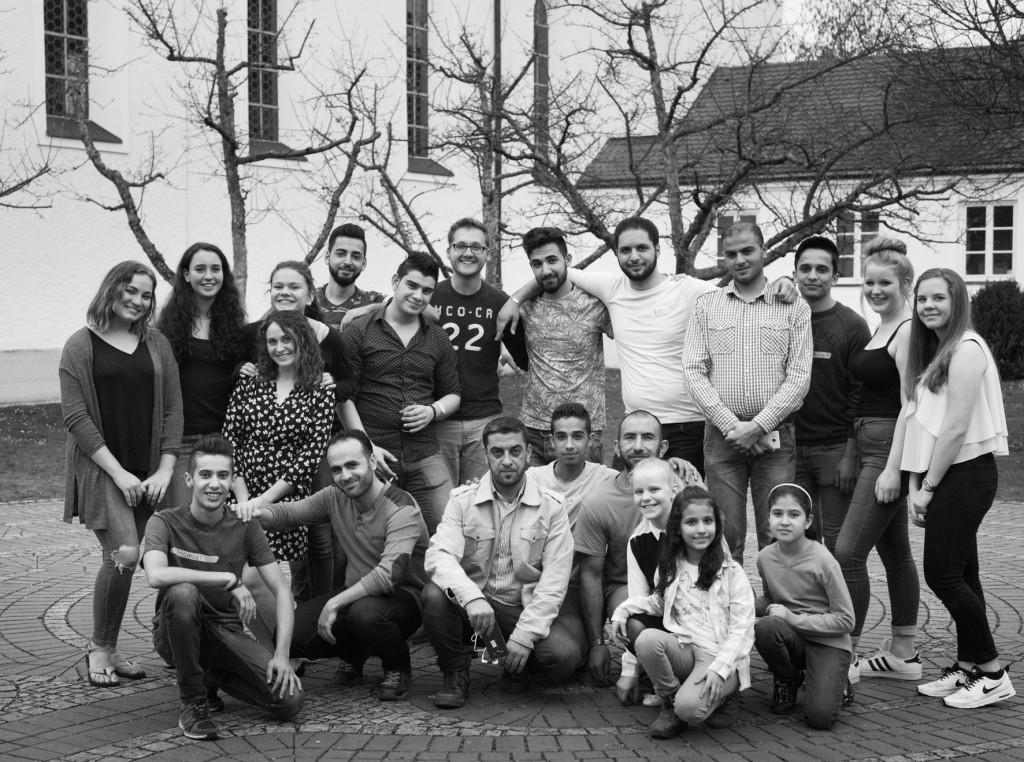 Die einladenden Syrer mit ihren deutschen Helfer/Innen