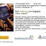 """""""Die Hoffnung im Gepäck"""" – Lesung und Gespräch in Eichenau"""