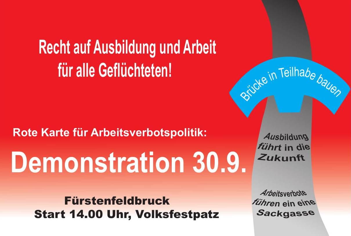 Demo 'Recht auf Ausbildung und Arbeit für alle Geflüchteten!'