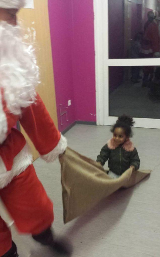 Weihnachtsmann besuchte den Schreberweg