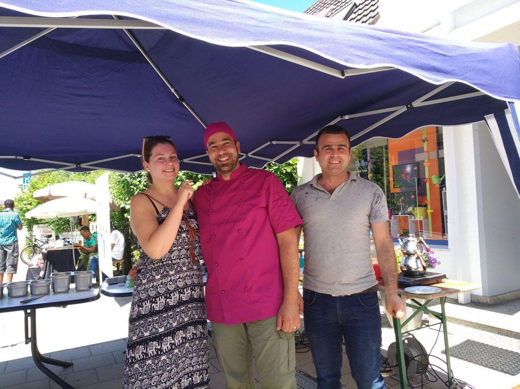 Falafel-Stand auf der Vereinsmesse